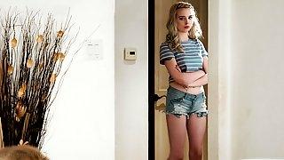 Pretty teen Lexi Lore helps her stepmom Serene Siren to masturbate pussy