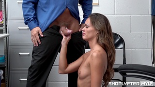 Small tits chick Aila Donovan gets fucked eternal in the office