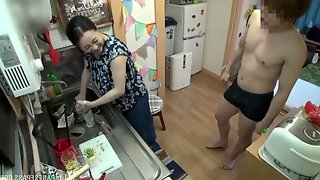 The favorite place of Kirishima Minako for having good sex is the kitchen